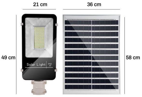 Đèn đường LED năng lượng Mặt trời 120W
