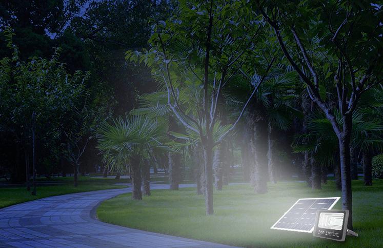 Đèn pha năng lượng Mặt trời 120W