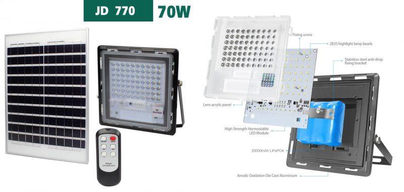 Đèn pha năng lượng Mặt trời 70W